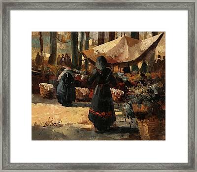 Tende Al Mercato Framed Print