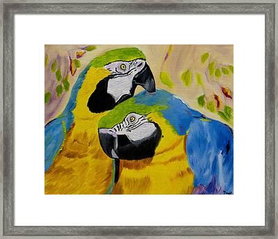 Tender Birdsong  Framed Print