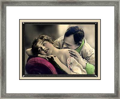 Tender Kisses Framed Print