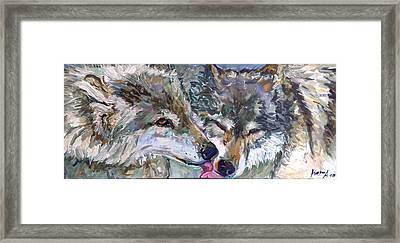 Framed Print featuring the painting Tender Moments by Koro Arandia