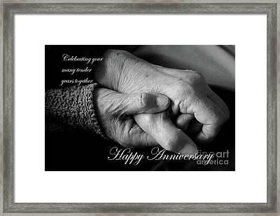 Tender Years Anniversary Card Framed Print by Nina Silver