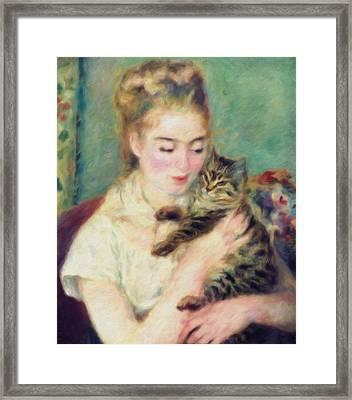 Tenderness Of A Woman Framed Print by Georgiana Romanovna