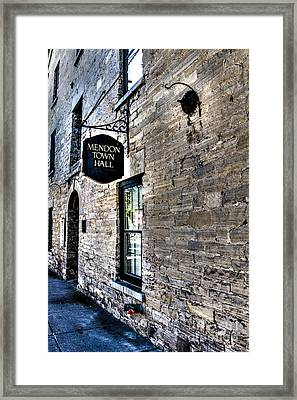 Mendon Town Hall Framed Print