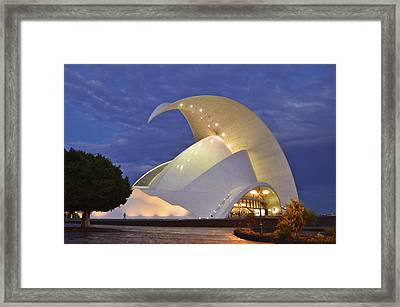 Tenerife Auditorium At Dusk Framed Print by Marek Stepan