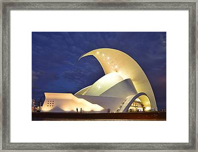 Tenerife Auditorium At Night Framed Print by Marek Stepan