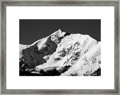 Tenmile Peak In Summit County Colorado Framed Print by Brendan Reals