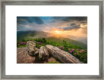 Tennessee Appalachian Mountains Sunset Scenic Landscape Photography Framed Print by Dave Allen