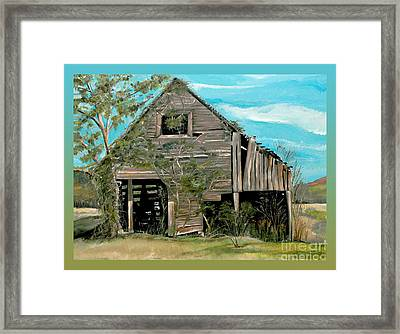 Tennessee -mooresburg - Gradient Border Framed Print