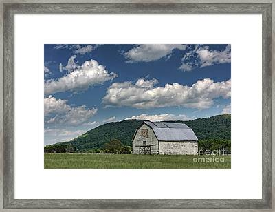 Tennessee Barn Quilt Framed Print