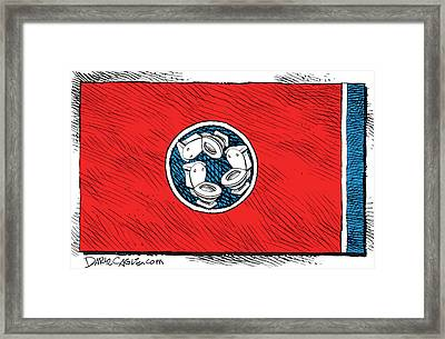 Tennessee Bathroom Flag Framed Print