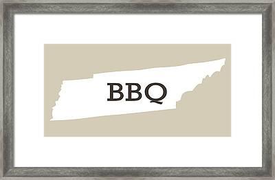Tennessee Bbq Framed Print