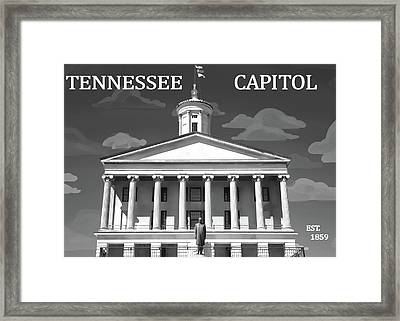 Tennessee Capitol Building Graphic Framed Print by Dan Sproul