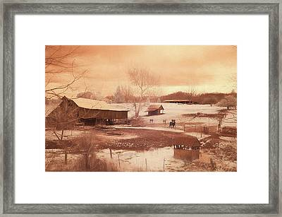 Tennessee Farmland Framed Print by Jim Cook
