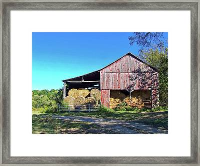 Tennessee Hay Barn Framed Print by Richard Gregurich