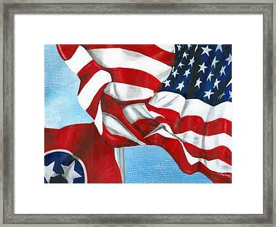 Tennessee Heroes Framed Print