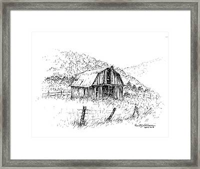 Tennessee Hills With Barn Framed Print