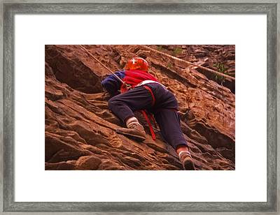 Tennessee Rappelling - 2 Framed Print by Randy Muir