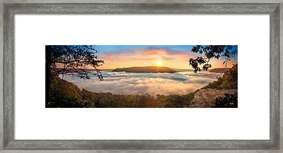 Tennessee River Gorge Morning Fog Framed Print