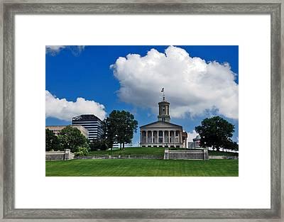 Tennessee State Capitol Nashville Framed Print by Susanne Van Hulst