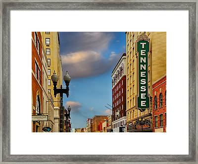 Tennessee Theatre Framed Print by Steven  Michael