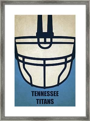 Tennessee Titans Helmet Art Framed Print by Joe Hamilton