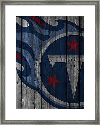 Tennessee Titans Wood Fence Framed Print