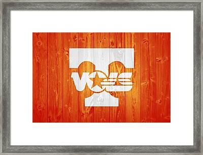 Tennessee Volunteers Barn Door Framed Print by Dan Sproul
