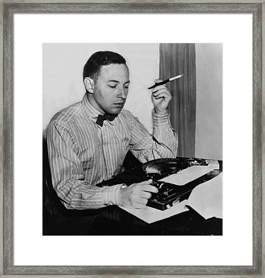 Tennessee Williams 1911-1983 American Framed Print by Everett