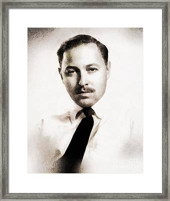 Tennessee Williams, Literary Legend Framed Print