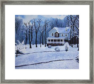 Tennessee Winter In The Smokies Framed Print by Beth Parrish