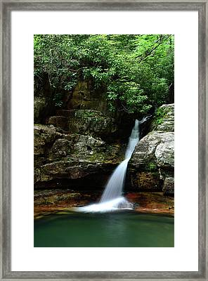 Tennessee's Blue Hole Falls Framed Print