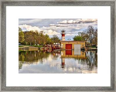 Tenney Lock - Madison - Wisconsin Framed Print
