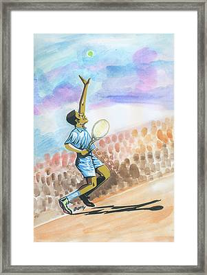 Tennis 02 Framed Print by Emmanuel Baliyanga