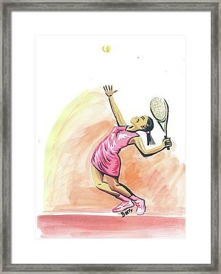 Tennis 03 Framed Print by Emmanuel Baliyanga
