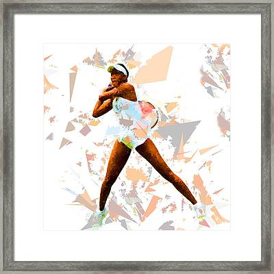 Framed Print featuring the painting Tennis 113 by Movie Poster Prints