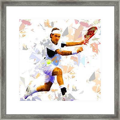 Framed Print featuring the painting Tennis 114 by Movie Poster Prints