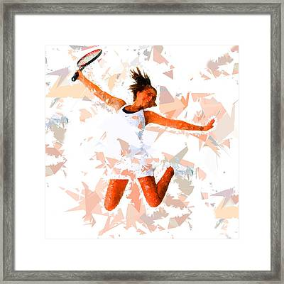 Framed Print featuring the painting Tennis 115 by Movie Poster Prints