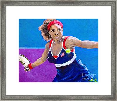 Serena Williams Framed Print by Alexander Gatsaniouk