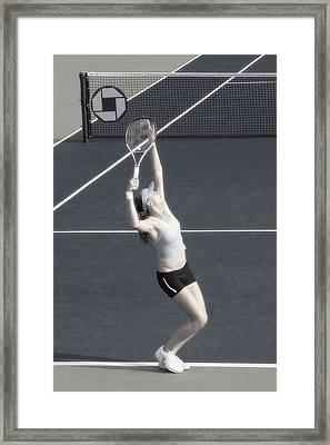 Tennis Art- Daniela Hantuchova Framed Print