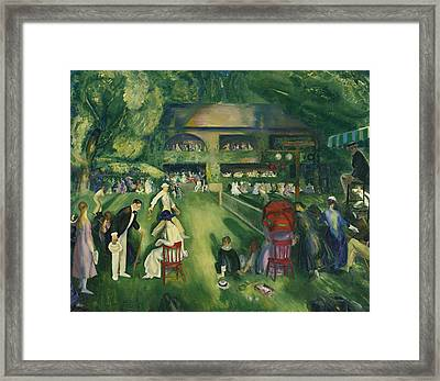 Tennis At Newport Framed Print