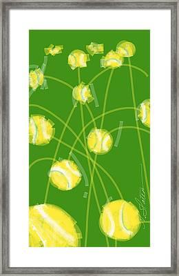 Tennis Balls At Me Framed Print