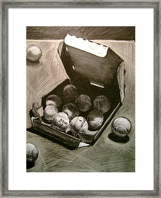 Tennis Balls In A Pizza Box Precisely Framed Print by Nils Beasley