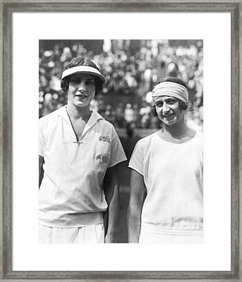 Tennis Champion Helen Wills Framed Print by Underwood Archives
