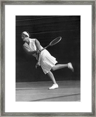 Tennis Champion Kitty Godfree Framed Print