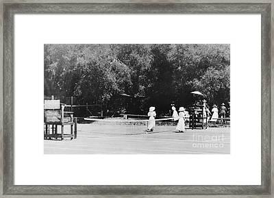 Tennis Champions Sutton And Hotchkiss Framed Print by Omikron