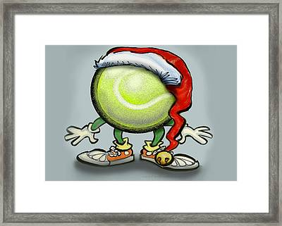 Tennis Christmas Framed Print by Kevin Middleton