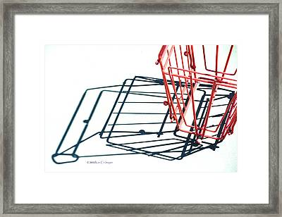 Tennis Court Pickup Basket Framed Print