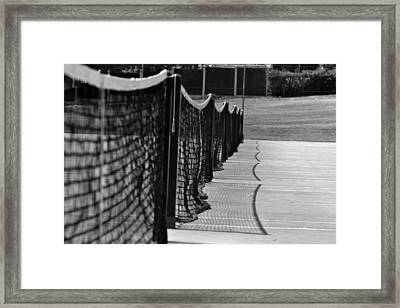 Tennis Courts Framed Print by Tracy Smith