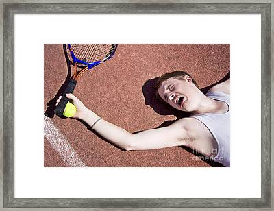 Tennis Elbow Framed Print