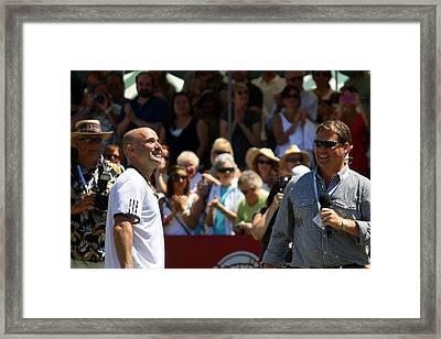 Tennis Legend Framed Print by Anne Babineau